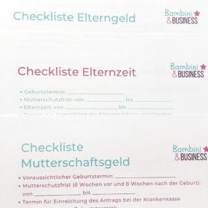 Checklisten für Schwangere