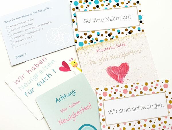 Postkarten Schwangerschaft