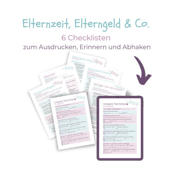 Checklisten für Schwangere zu Elternzeit und Elterngeld